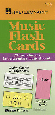 Music Flash Cards Set B Late Elementary Hal Leonard Student Piano Library