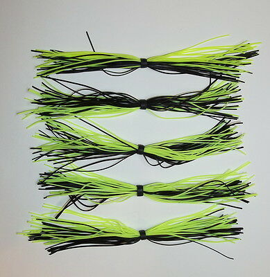 Black//Blue Tips -Bass Fishing-Fishing 10 Custom Made Silicone Spinnerbait Skirts