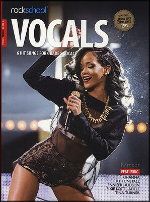 Rockschool Vocals Female Singers Grade 5 Music Book with Audio Exams Tests Vocal