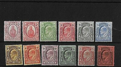 Turks & Caicos 1909-11 Set Fresh Mounted Mint, Sg115/26, Cat £110