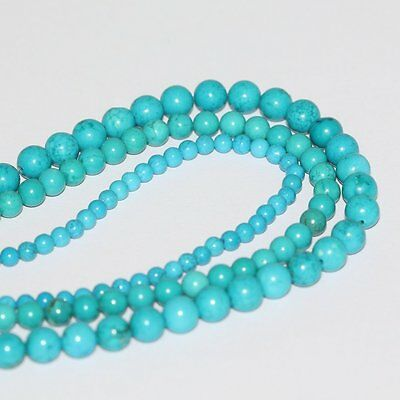 2 Strands x AAA Natural Turquoise 8mm Gemstone Round Loose Beads For Jewelry