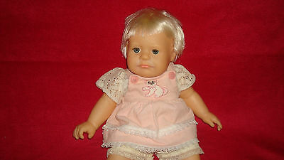 Vintage Real Baby Hasbro Baby Doll Weighted 1986 J Turner Vinyl Soft Body