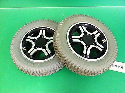Wheels & Tires for Quantum 600 Power Wheelchair ~set of 2~  #9116