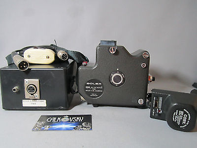 SWISS ESM CRYSTAL SYNC DRIVE MOTOR & CHARGER & BATTERY for BOLEX MOVIE CAMERA