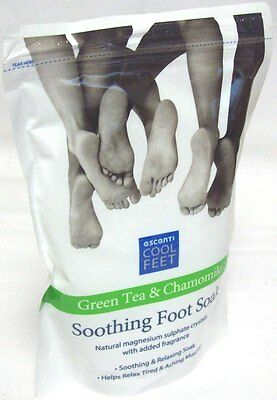 Escenti Cool Feet Green Tea & Chamomile Soothing Foot Soak Bath Crystals 450g