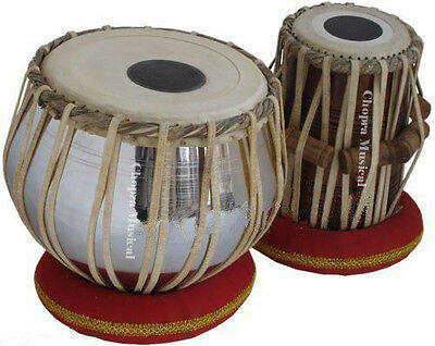 Tabla Drum Chopra Brass Bayan Nickel Wood Dayan Ring + Hammer + Box Free!