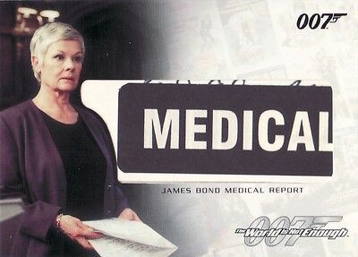 The Complete James Bond Rare James Bond Medical Report RC2 Relic Card