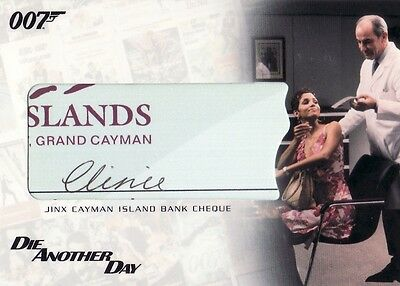 The Complete James Bond Jinx Cayman Island Bank Cheque RC1 Relic Card