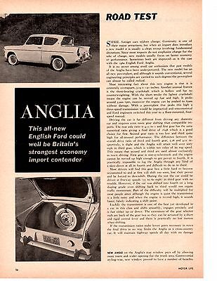 1960 Ford Anglia ~ Original 2-Page Road Test / Article / Ad