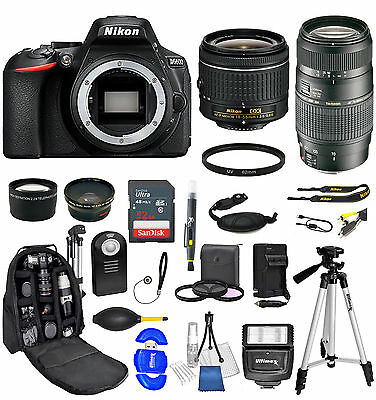 Nikon D5600 Digital SLR Camera + 18-55mm + 70-300mm 24 piece Ultimate Bundle