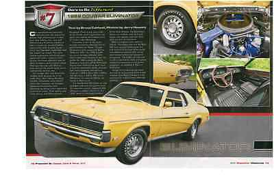 1969 Mercury Cougar Eliminator 428 Cobra Jet  ~  Great Two-Page Article / Ad