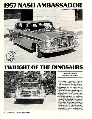 1957 Nash Ambassador  ~  Nice 8-Page Road Test / Article / Ad
