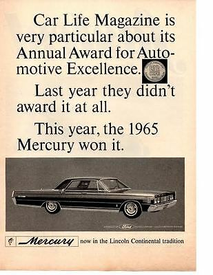 1965 Mercury  ~  Original Print Ad
