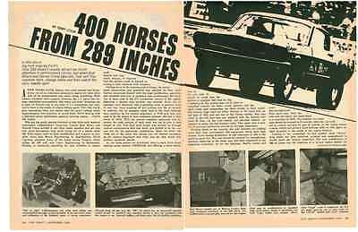 1967 Ford - 400 Horses From 289 Inches  ~ Vintage Original 4-Page Article