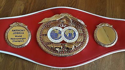 Top quality hand signed IBF Full size belt by Anthony Joshua MBE