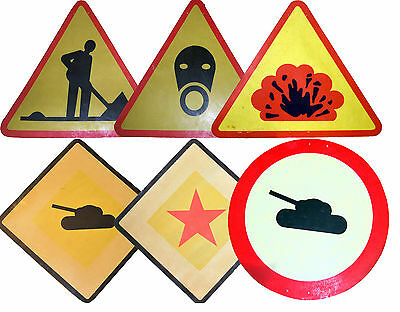 Vintage Genuine Warsaw Pact BIG Army Signs Plaque Soviet war cccp ARMY ROAD SIGN