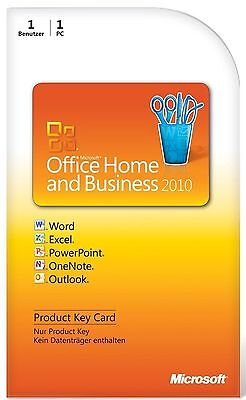 ✅ Microsoft Office Home and Business 2010 Lizenzschlüssel / Vollversion