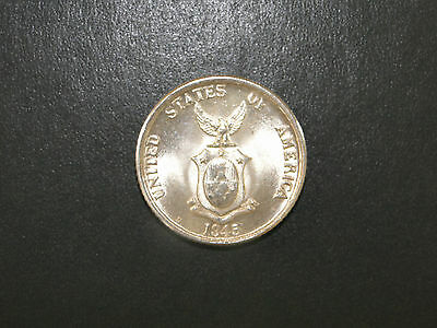 20 Centavos 1945 D United States-Philippines Silver Coin