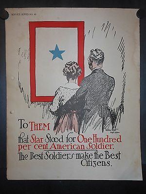 One Hundred Percent American Soldiers Gordon Grant WWI 1918 Signed Poster