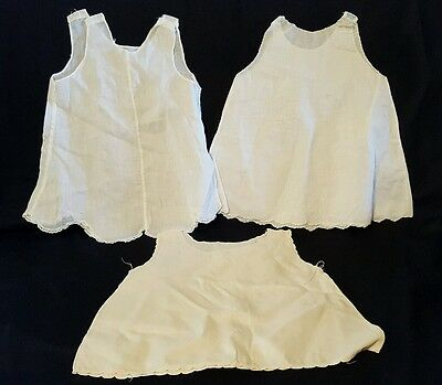 Lot of 3 Vintage Sleeveless Baby Dresses Size 6 Months