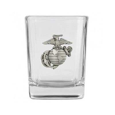 Marine Corps Pewter Emblem Shot Glass IMC-Retail