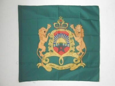ROYAL STANDARD OF MOROCCO FLAG 3' x 3' for a pole - MOROCCAN KINGDOM FLAGS 90 x