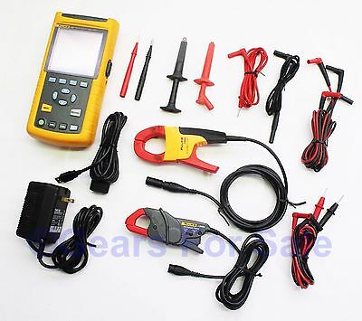 Fluke 43B Power Quality Analyzer Accessories in Hard Case with clamps
