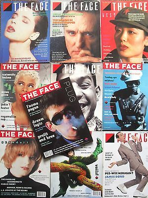 THE FACE Magazine Lot Collection of 10 issues 1985 to 1988 Issue 68 to 99