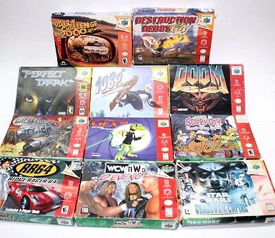 Nintendo 64 N64 Boxes lot (11) + Extra Manuals Fast Shipping