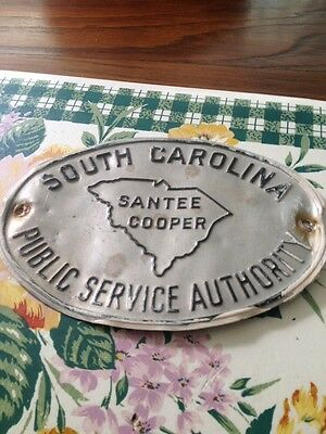 Vintage Public Service Authority Sign South Carolina Santee Cooper Power Company