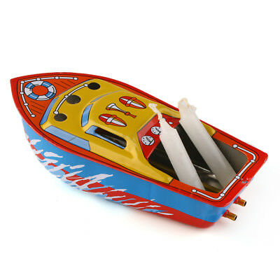 Retro Steam Boat Pop Candles Powered Put Ship Collectable Classic Toy Tin Gift