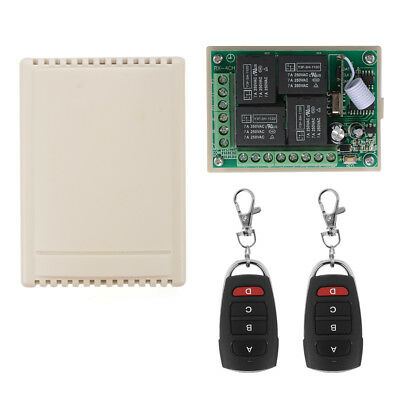 12V 4CH Channel 433Mhz Wireless RF Remote Switch 2 Transmitter + Receiver LD942