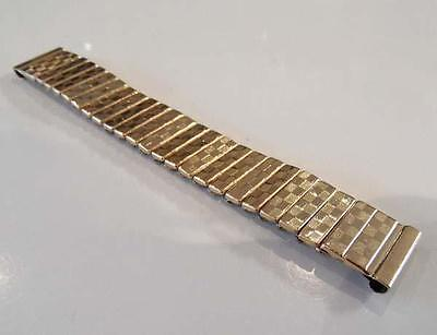 Small Mens or Ladies Gold Plated Luxury Expandable Bracelet Watch Strap 16mm