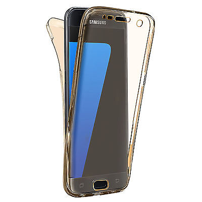 Shockproof 360° Silicone Protective Case For Samsung Galaxy S7 EDGE Gold (29)