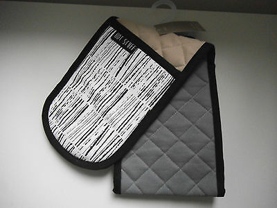 Next Brooklyn  Cotton  Double Oven Gloves Brand New With Tags