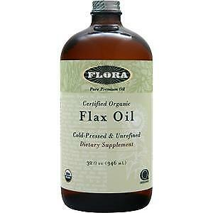 Flora Certified Organic Flax Oil - Cold Pressed & Unrefined  32 fl.oz