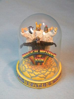 The  Beatles Magical Mystery Tour Music Box  Glass Dome Franklin Mint