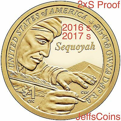 2016 & 2017 S SACAGAWEA NATIVE AMERICAN Code Talkers + Sequoyah Proof Dollars