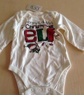 Carters Baby Girl Boy  FIRST CHRISTMAS Elf Tee Snap Up One Piece 3 Month