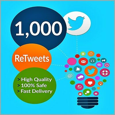 1000 Fast and Safe Twitter Retweet (Advertising Retweets   ) cheap