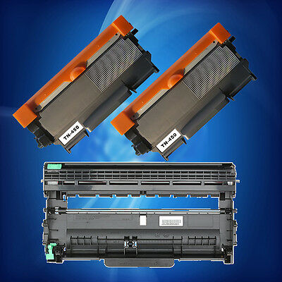 2 TN450 Toner + 1 DR420 Drum For Brother HL-2240/2280DW/2270DW MFC-7360N DCP7060