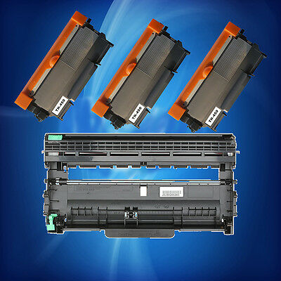 3 TN450 Toner + 1 DR420 Drum For Brother HL-2240/2280DW/2270DW MFC-7360N DCP7060