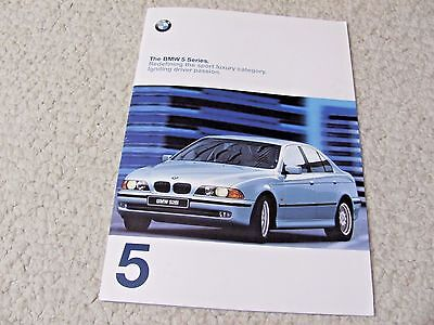 1998 Bmw 5 Series Prestige Sales Brochure !!!