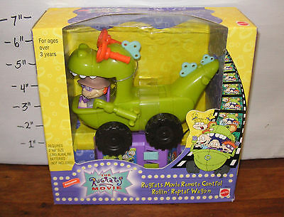 ✨New! Vintage 1998 The Rugrats Movie REMOTE CONTROL ROLLIN' REPTAR WAGON Sealed!