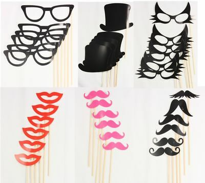 Pack of 6 Party Selfie Props Photo Photobooth Dress Up Prop Christmas Xmas