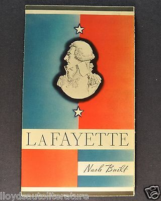 1934 Nash LaFayette Sales Brochure Folder Excellent Original 34
