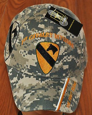 Military Camo 1st First Cavalry Division Army Hat Baseball Ball Cap Camouflage