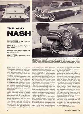 1957 Nash Ambassador Custom & Super Series ~ Original 2-Page Specs Article / Ad