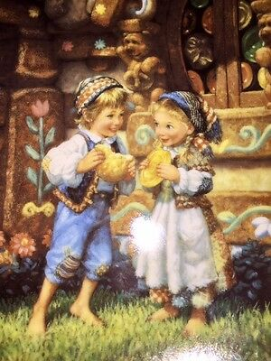 """RARE!!!! """"Hansel and Gretel"""" #6 Knowles Gustafson CLASSIC FAIRY TALES PLATE"""