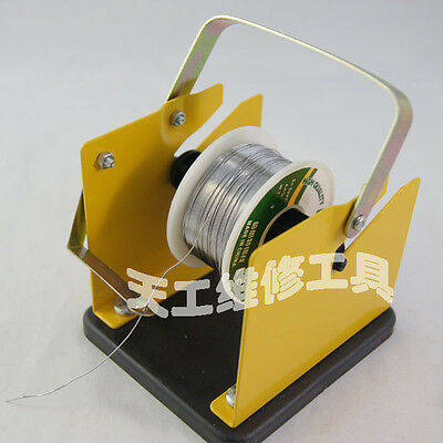 1Pcs Solder Dispenser Wire Spool Holder Bracket Metal Stand With Reel Spindle